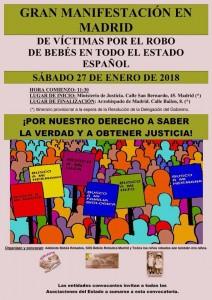 Cartel Manifestación 27enero18